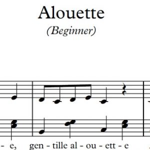 Alouette (Piano)