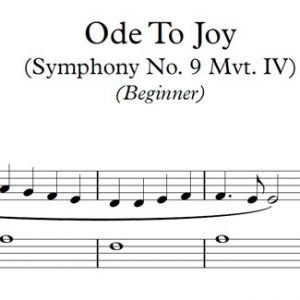 Ode to Joy (Piano)