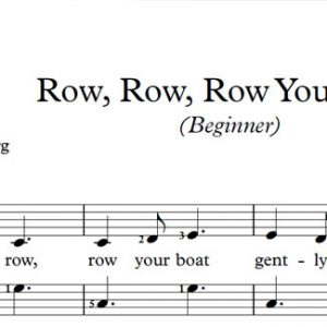 Row, Row, Row Your Boat (Piano)