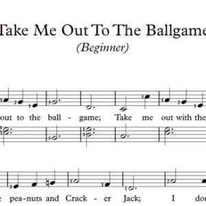 Take Me Out To The Ballgame (Piano)