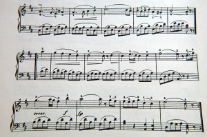 piano sheet music with fingering