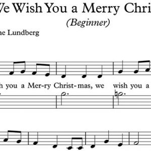 We Wish You A Merry Christmas Piano Sheet Music
