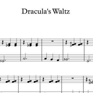 Halloween Piano Sheet Music - Dracula's Waltz