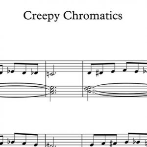 Halloween Piano Sheet Music - Creepy Chromatics