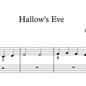 Halloween Piano Sheet Music - Hallow's Eve