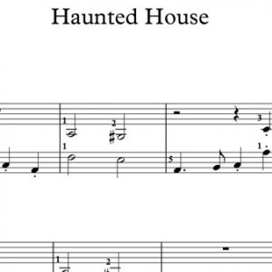 Halloween Piano Sheet Music - Haunted House