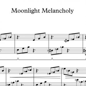 Halloween Piano Sheet Music - Moonlight Melancholy
