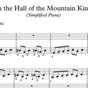 In the Hall of the Mountain King Piano Sheet Music