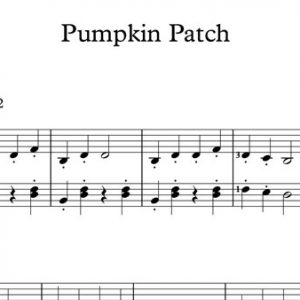 Halloween Piano Sheet Music - Pumpkin Patch