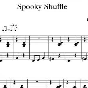 Halloween Piano Sheet Music - Spooky Shuffle