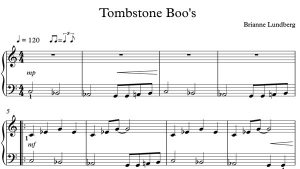 New Halloween Piano Sheet Music