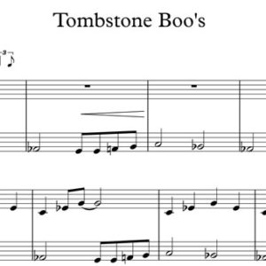 Halloween Piano Sheet Music - Tombstone Boo's
