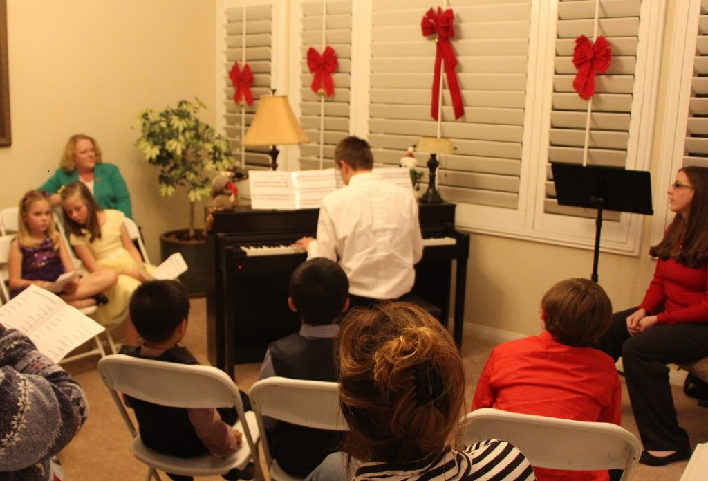 piano recital student performance
