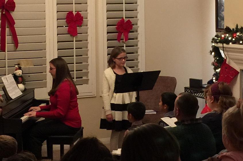 vocal recital student performance
