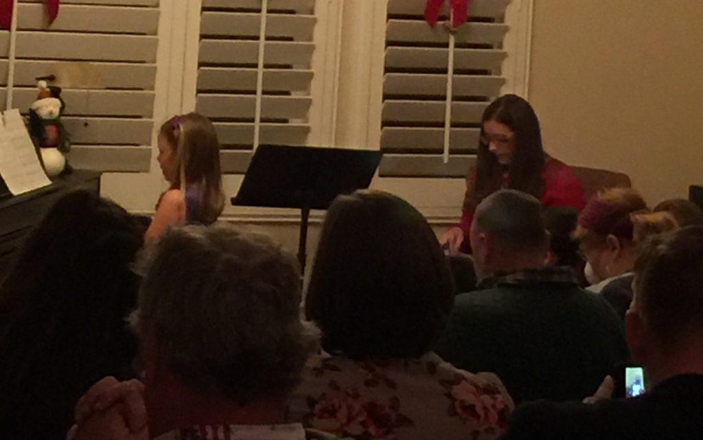 piano recital student performance
